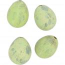 Quail egg natural matt, 2 colors, 3cm, green matt